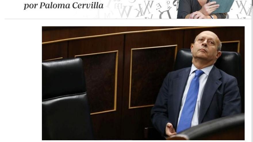 El blog de Paloma Cervilla en ABC.es.