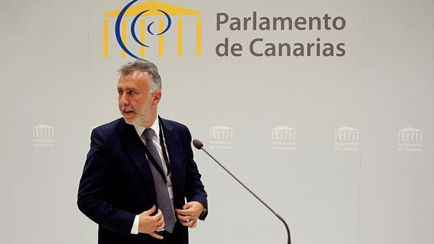 El secretario general del Psoe de Canarias, Ángel Víctor Torres.