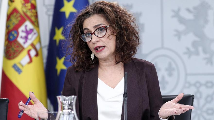 La ministra de Hacienda y Portavoz del Gobierno, María Jesús Montero, comparece tras el Consejo de Ministros celebrado en martes