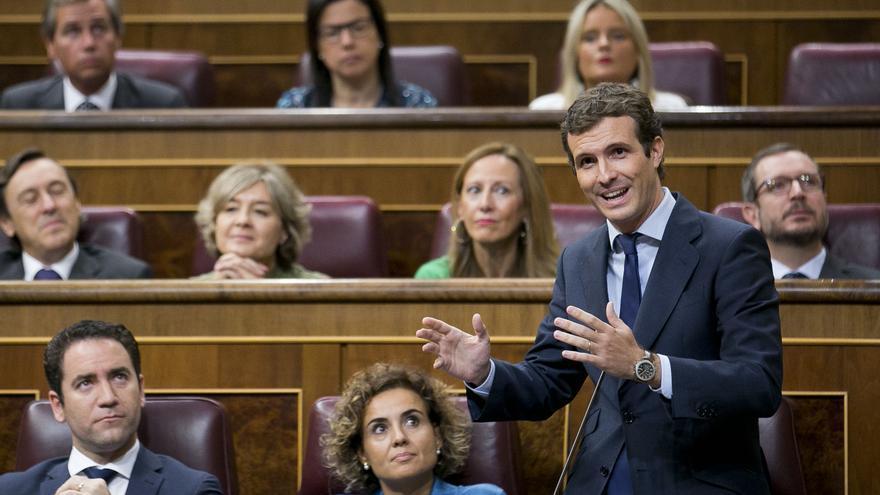 Pablo Casado interviene en el Congreso de los Diputados.