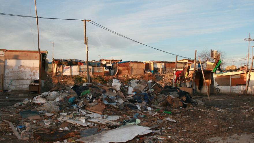 Una de las cuatro chabolas de 'El Gallinero' que el Ayuntamiento derribó este enero. / L. O.