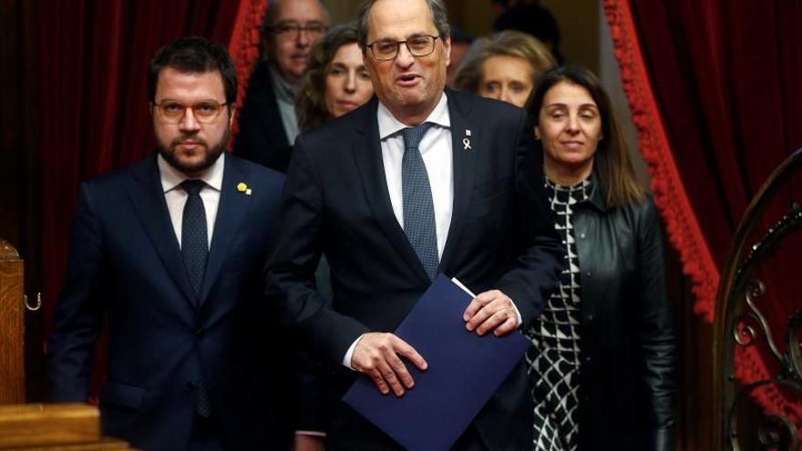 """Torra inicia su discurso en el Parlament denunciando un """"golpe de Estado"""""""