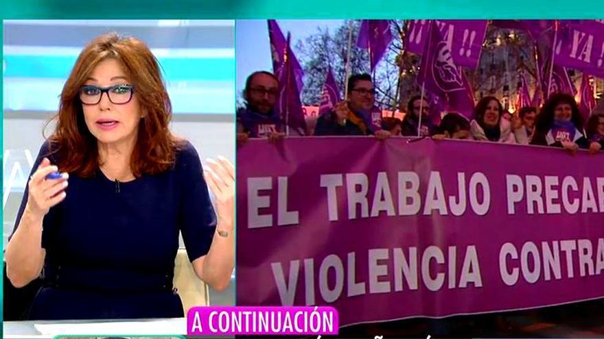 Ana Rosa Quintana apoya la huelga feminista