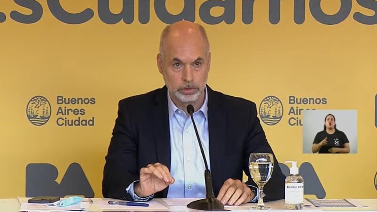 Rodríguez Larreta, en conferencia de prensa.