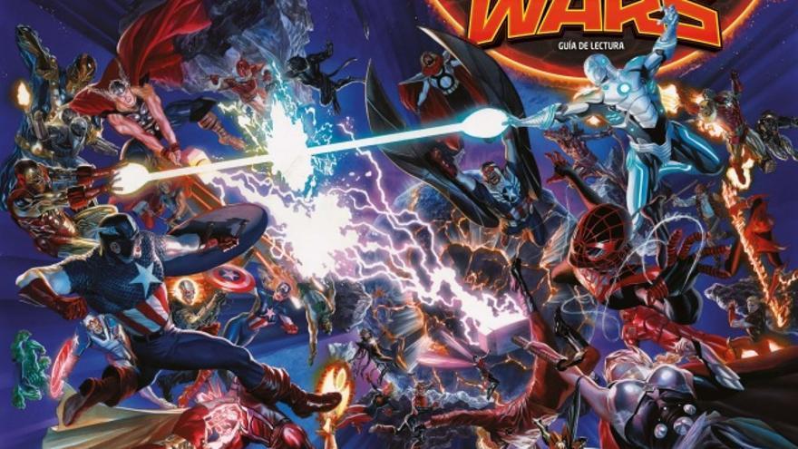 Portada de 'Secret Wars: Guía de lectura' (Panini Cómics/Marvel)