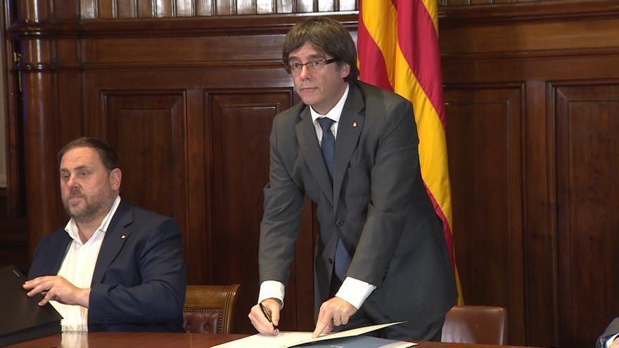 """Puigdemont a los que cortaron el AVE: """"Es un orgullo representar a un pueblo con tanta dignidad"""""""