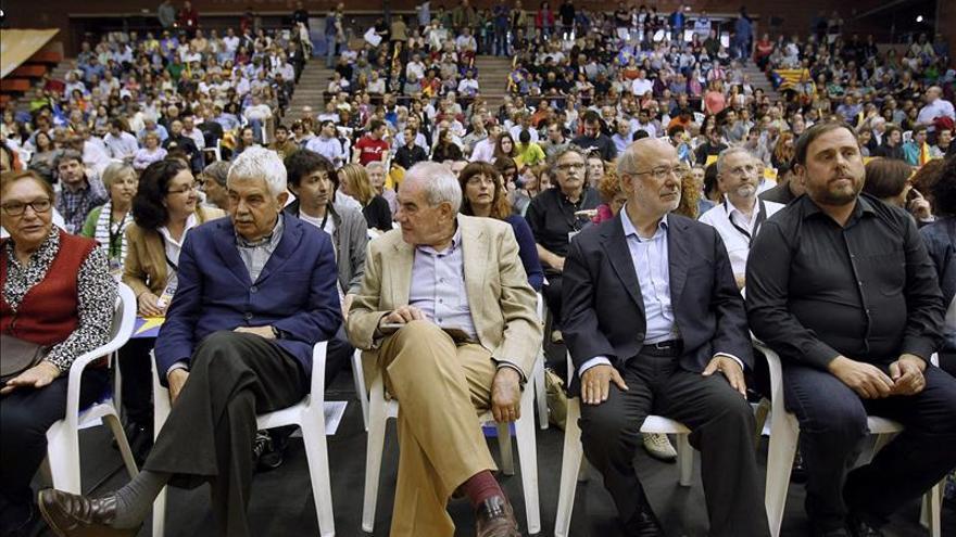 Pasqual Maragall apoya a ERC en su mitin central de la campaña europea