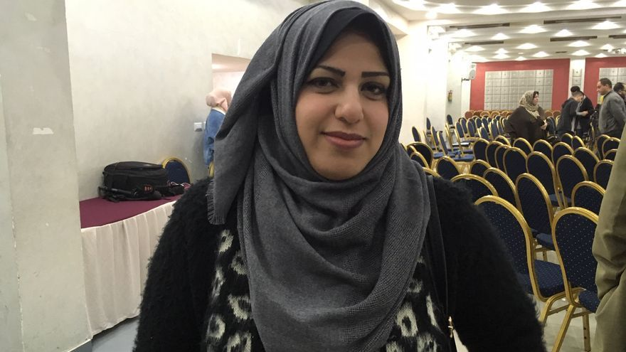 Abeer, profesora de inglés en Gaza.