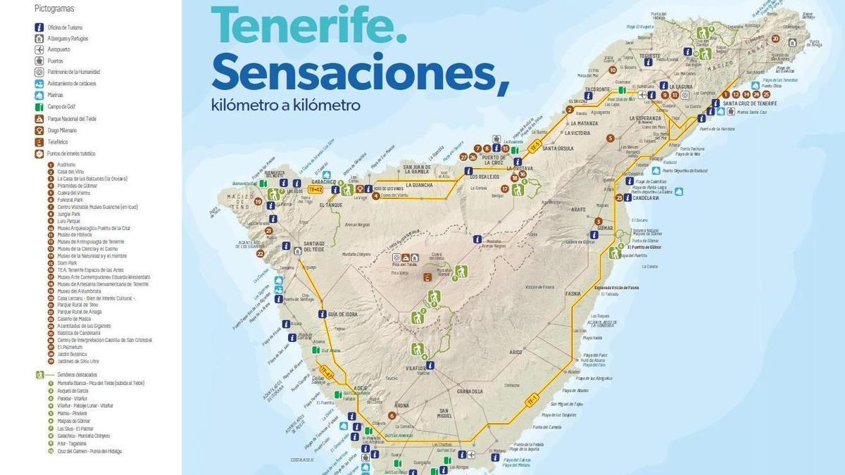El mapa turístico con una veintena de errores