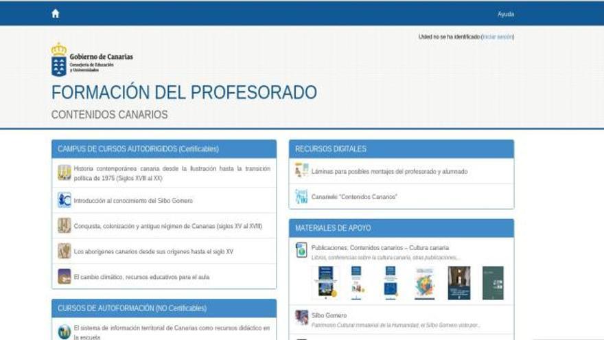 La Consejería de Educación del Gobierno de Canarias ha reunido en un portal de internet los contenidos educativos relacionados con la Islas