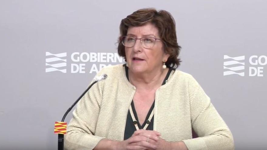 La consejera de Ciudadanía de Aragón, María Victoria Broto.
