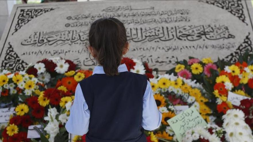 Los palestinos recuerdan a Arafat en el undécimo aniversario de su muerte