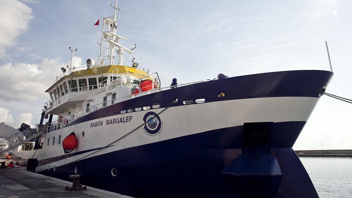 El l buque oceanográfico Ramón Margalef, del Instituto Español de Oceanografía en una imagen de archivo. EFE/Ramón de la Rocha