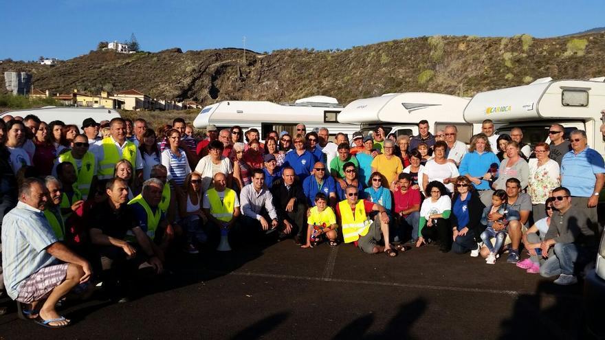 En la imagen, salida, en Los Cancajos, de la II Vuelta a La Palma en Caravanas.