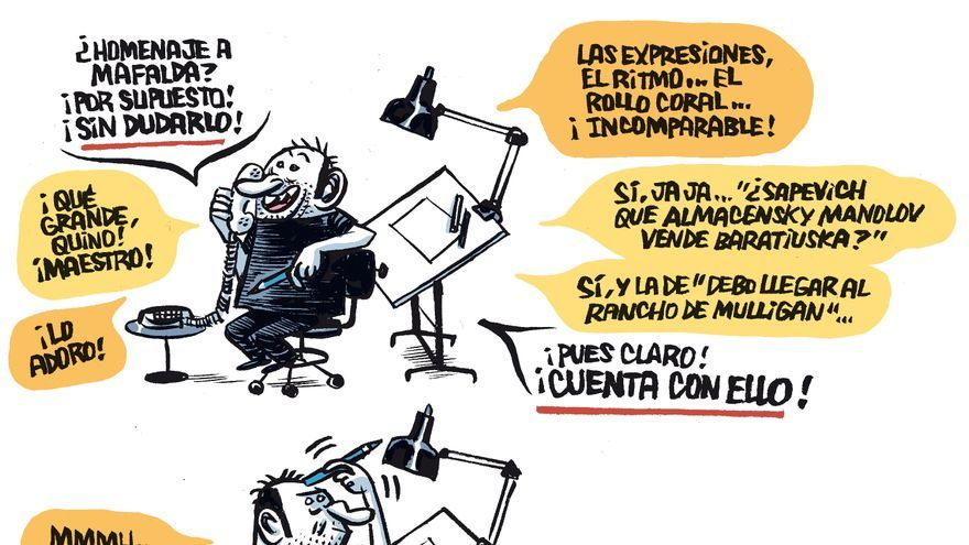 Homenaje a Mafalda de Manel Fontdevila