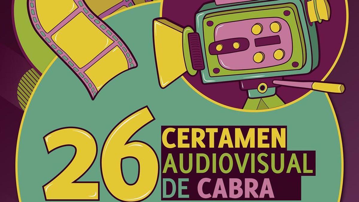 Cartel de Noemí Sinobas para el 26 Certamen Nacional de Creación Audiovisual de Cabra