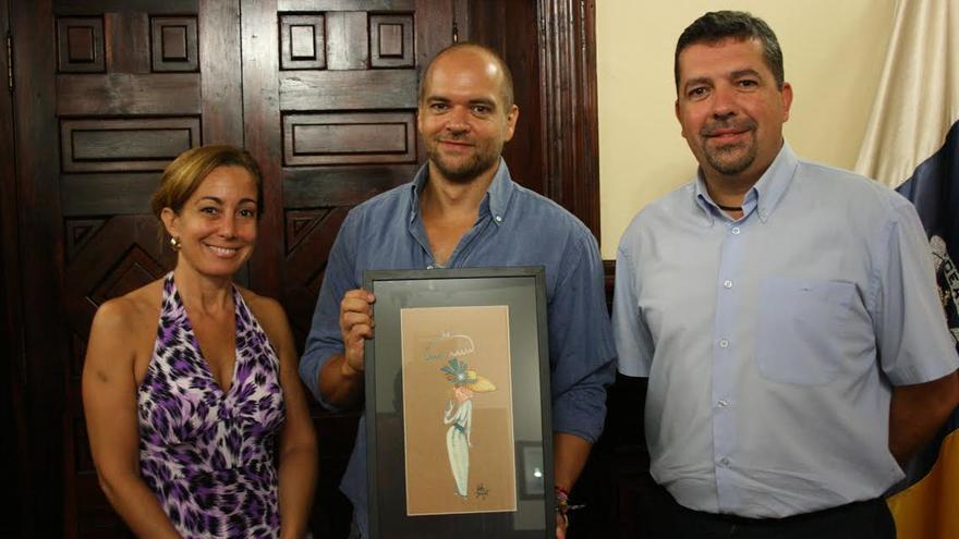 Marta Poggio, Víctor Jaubert (centro) y Juan José Cabrera