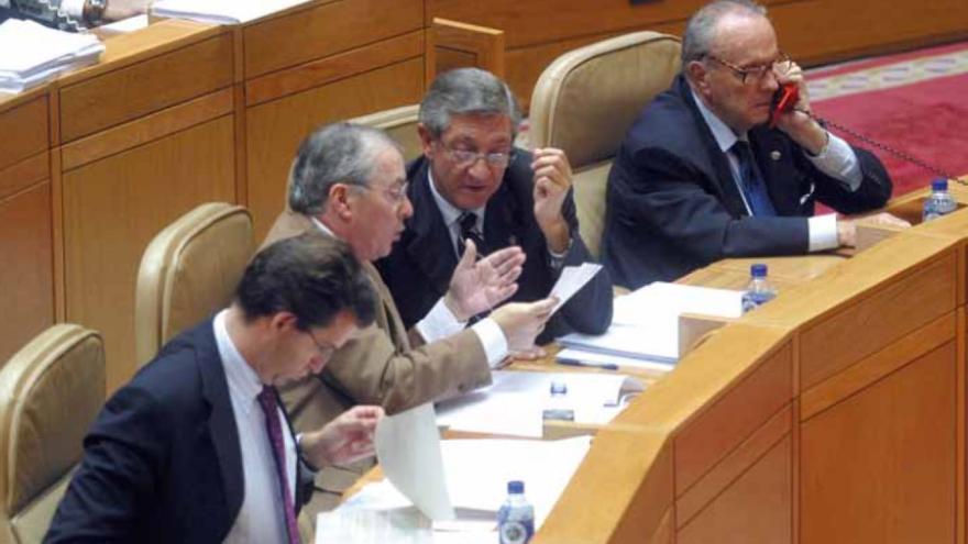 Feijóo, en el Parlamento como conselleiro de Fraga