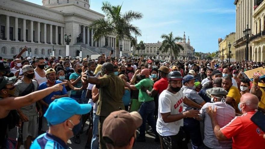Las protestas en Cuba el domingo