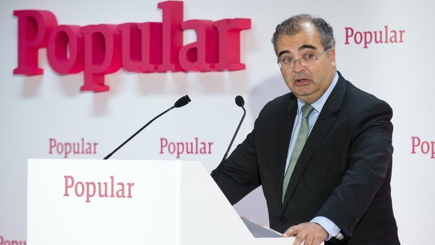 (Amp.) Banco Popular gana 105 millones en 2015, un 68,1% menos, tras provisiones por cláusulas suelo