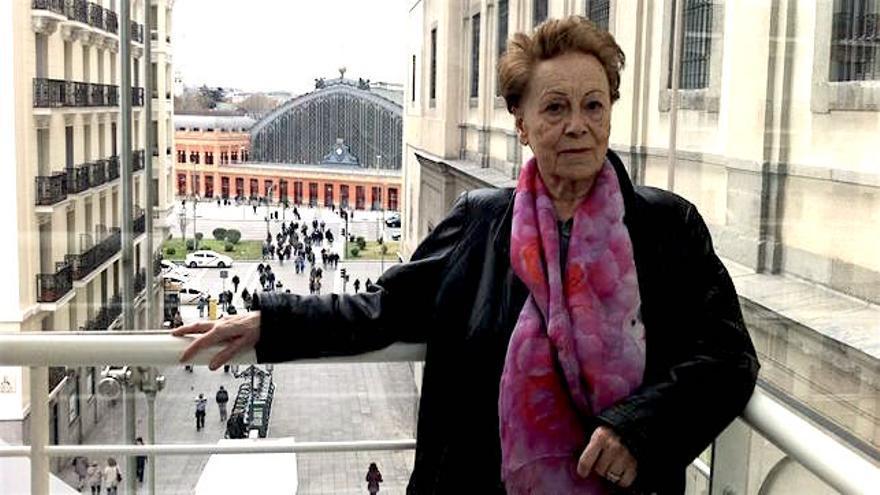 Natalia Sanmartín Polo en una visita a Madrid. / Foto cedida