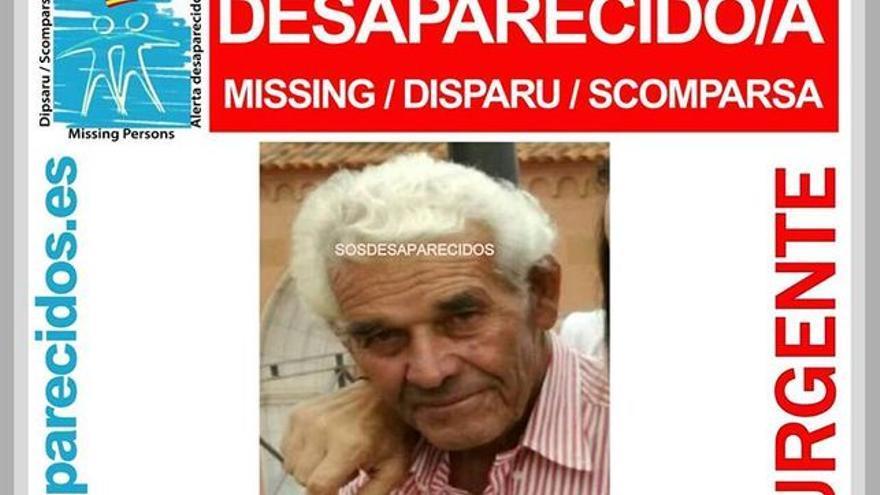 Imagen de Chelo Alonso en la alerta difundida sobre su desaparición