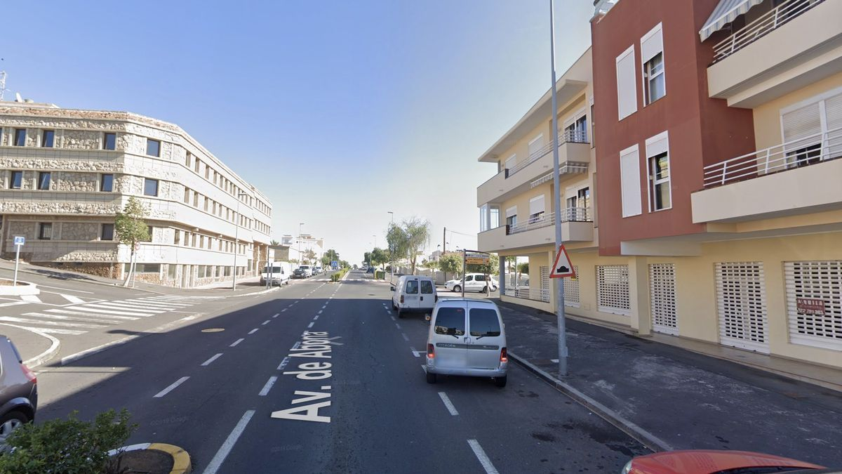 Avenida de Abona, en San Isidro, en el municipio tinerfeño de Granadilla de Abona