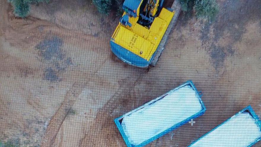 Imagen desde un dron de los trabajos de retirada de amianto en Toledo