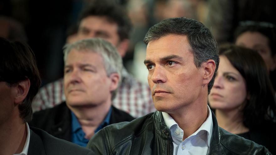 Pedro Sánchez, en el acto de homenaje a Carme Chacón