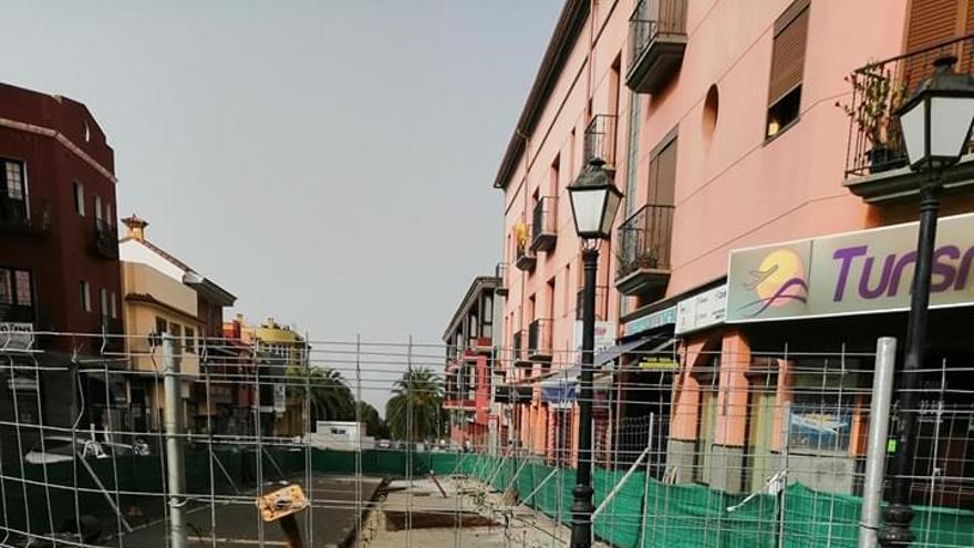 Una cuarta prórroga de las obras del aparcamiento de la plaza principal de San Mateo pospone su finalización a 2021