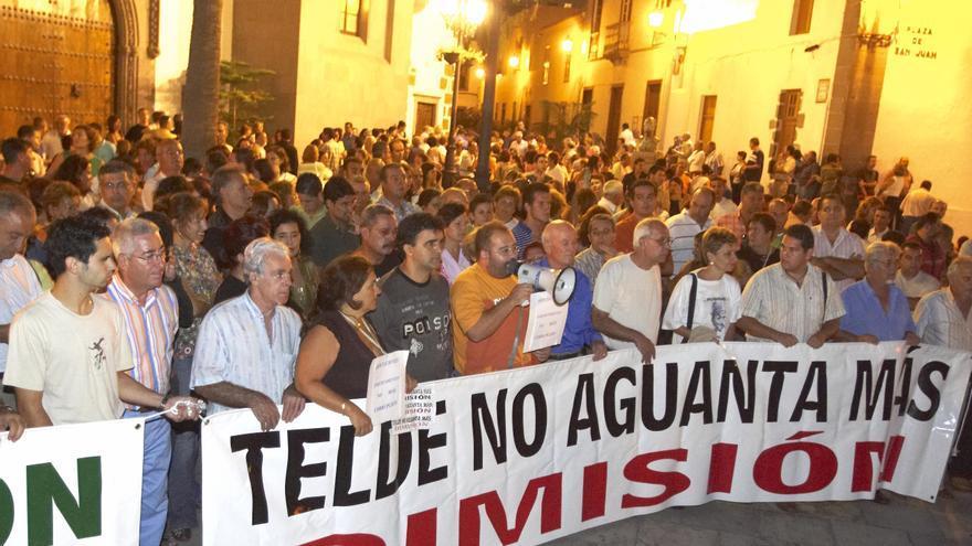 Protestas en Telde por el Caso Faycan.