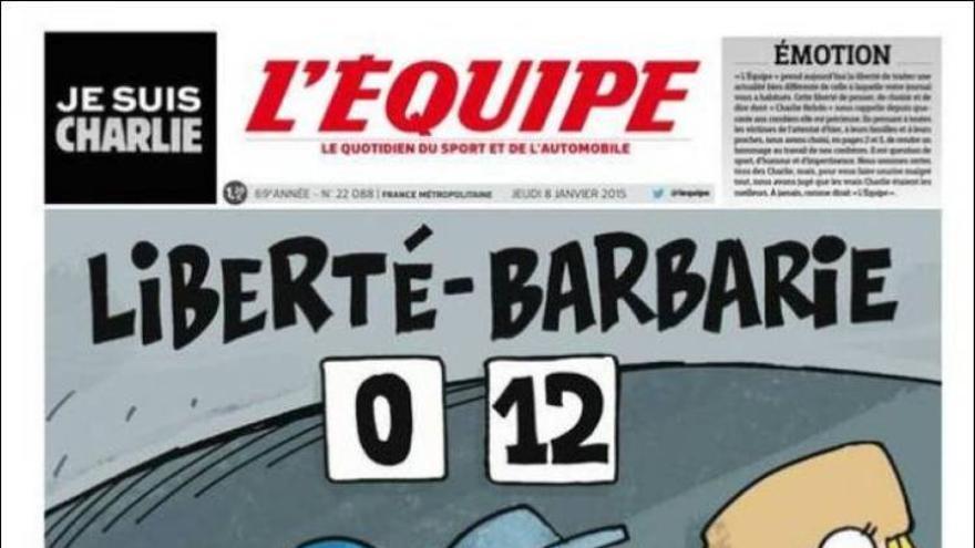 'Libertad 0 - Barbarie 12' - L'Equipe (deportivo francés)