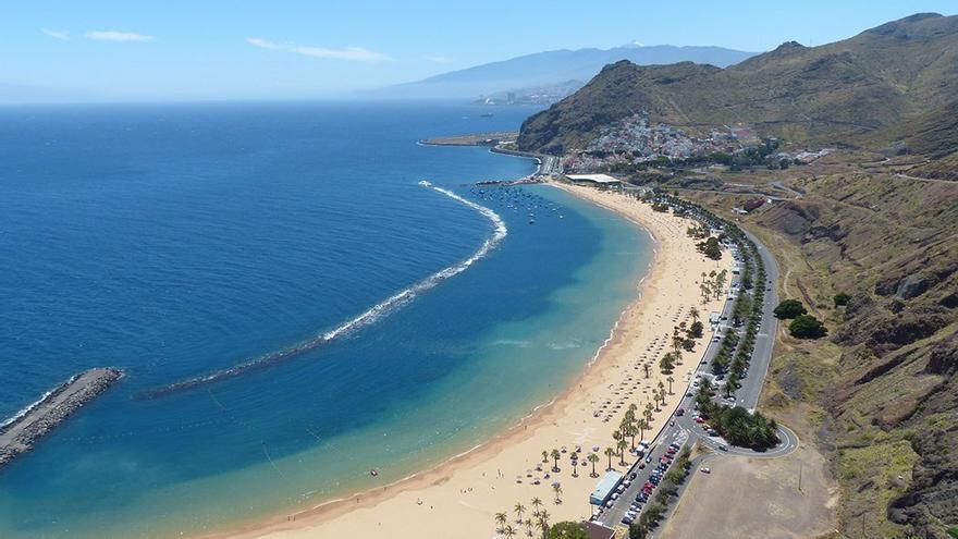 Playa de las Teresitas, situada en la isla de Tenerife. (DP)