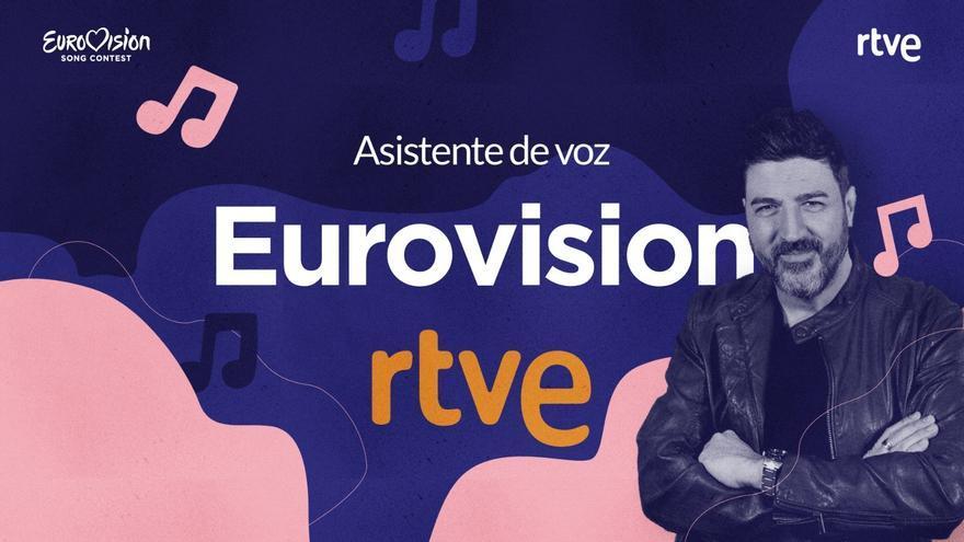 El asistente de voz sobre Eurovisión de RTVE, con Tony Aguilar