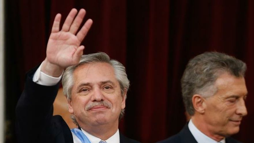 El peronista Alberto Fernández, durante la ceremonia de su investidura como presidente de Argentina