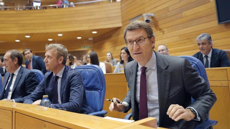 """Feijóo destaca que """"no hay ningún congreso convocado"""" para suceder a Rajoy"""