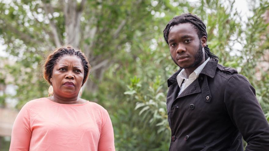 La mujer y el hijo de Gabriel Nse.