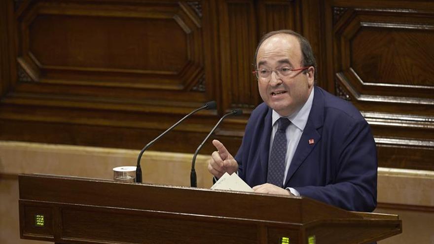Iceta pide a Govern cese actividades del 1-O si quiere un referéndum pactado