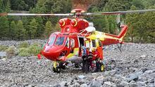 Rescatan en helicóptero a una mujer accidentada en La Caldera