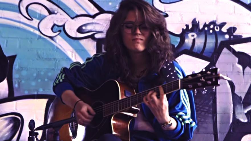 Carlota López en una actuación