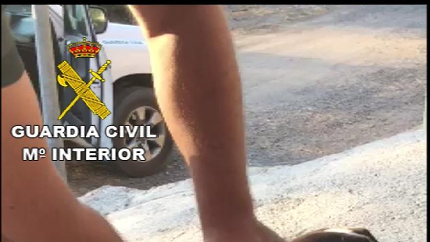 Guardia Civil rescata a un perro atado que estaba agonizando y denuncia al dueño por presunto maltrato