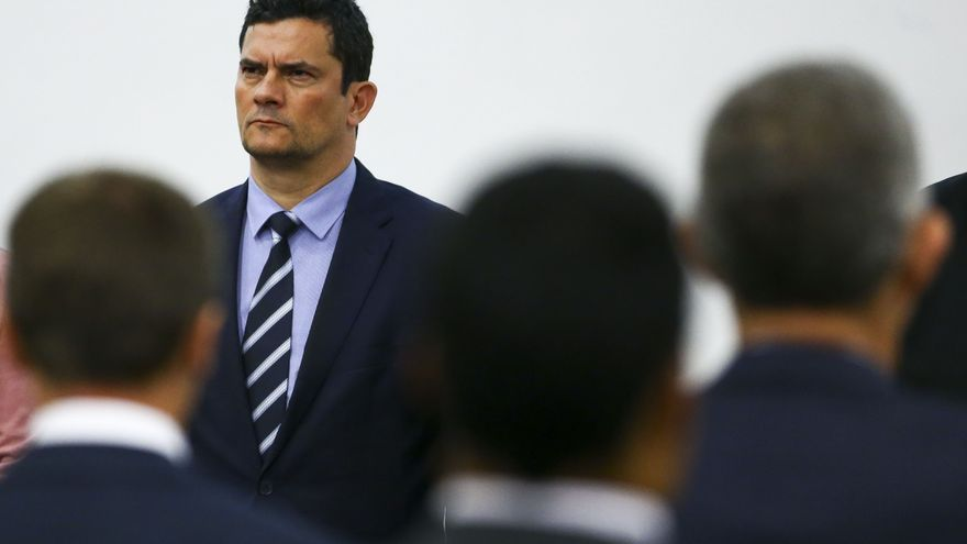 """El ministro de Justicia y Seguridad Pública y exjuez federal, Sérgio Moro, en el seminario """"Diálogos Brasil-Francia"""" el pasado 14 de mayo."""