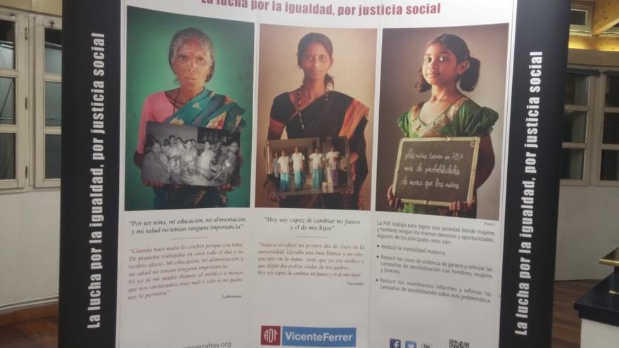 Exposición 'El futuro empieza hoy' de la fundación Vicente Ferrer sobre las desigualdades en India.