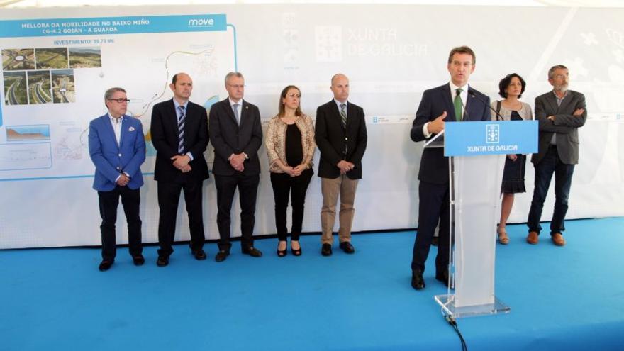 Feijóo en la inauguración en 2014 del único tramo en servicio del corredor del Baixo Miño, infraestructura prometida en 2003 y que ahora la Xunta retoma