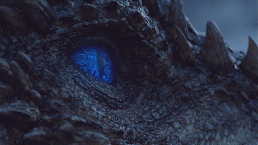 Viserion, el dragón de Daenerys, ahora convertido en un espectro más