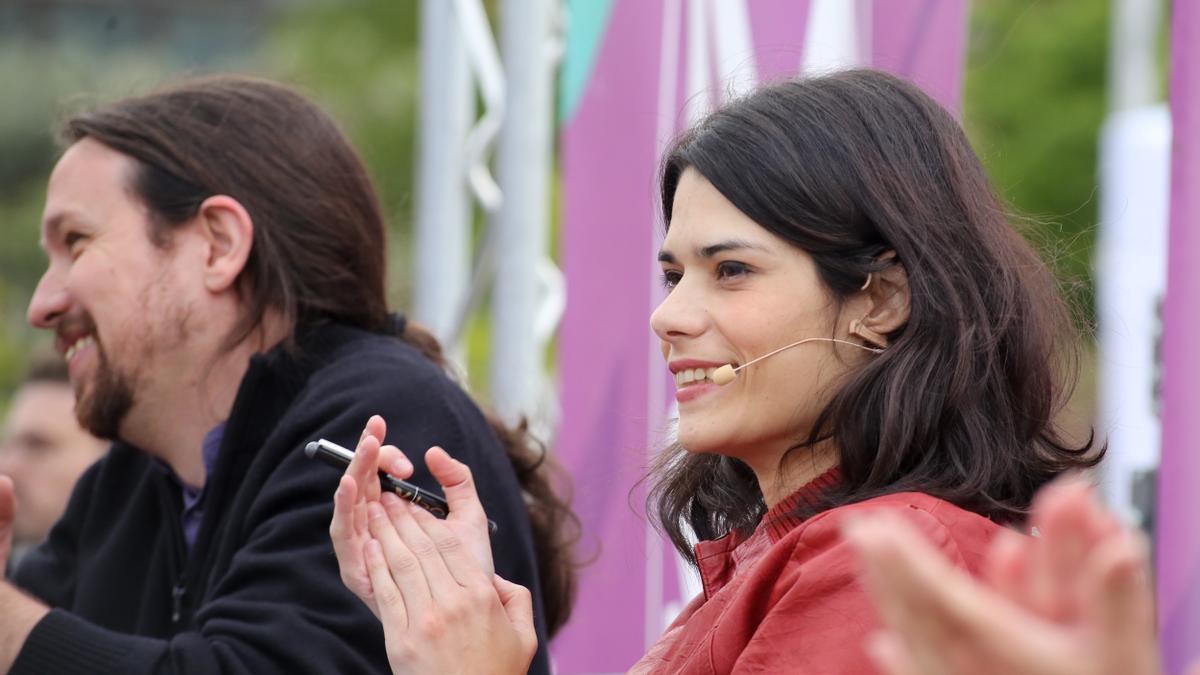 Pablo Iglesias e Isa Serra en una imagen de archivo.