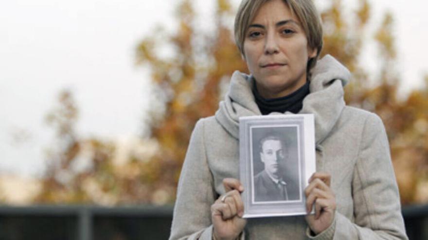 Silvia Navarro, presidenta de la Asociación de Familiares Pro Exhumación de los Republicanos enterrados en el Valle de los Caídos.