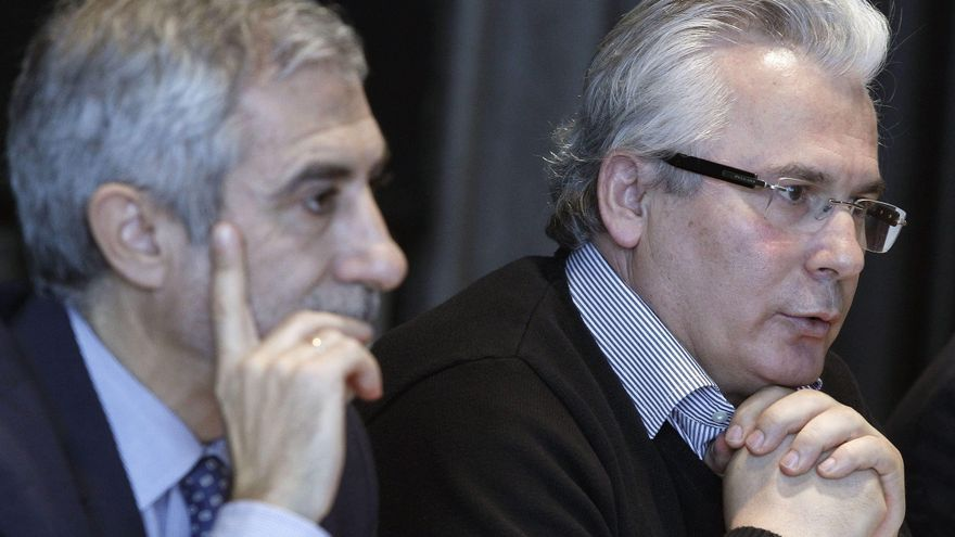 Gaspar Llamazares y Baltasar Garzón, en una imagen de archivo.