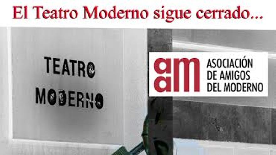 Cartel apoyo Teatro Moderno, Guadalajara. 5/10/14