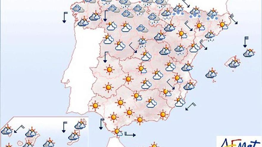 Hoy, viento fuerte en norte y este peninsular además de Baleares